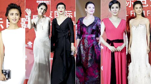 北京电影节闭幕红毯 章子怡灿笑蒋雯丽似修女