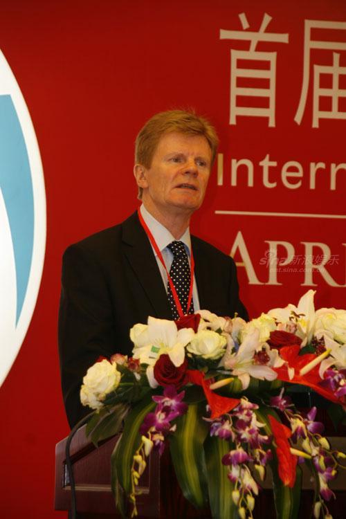 图文:首届ICIS开幕式--肯尼迪约翰发表讲话