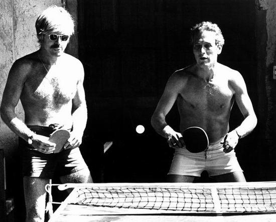 资料图片:1969年保罗-纽曼拍摄《虎豹小霸王》