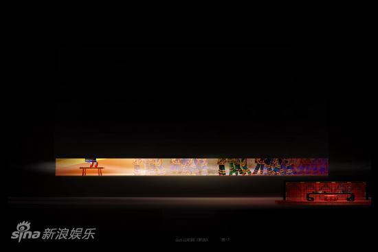 资料图片:大型山西说唱剧《解放》舞美图(1)