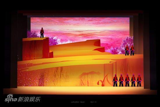 资料图片:大型山西说唱剧《解放》舞美图(15)