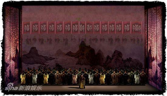 资料:歌剧《西施》舞美图-越国出发反攻