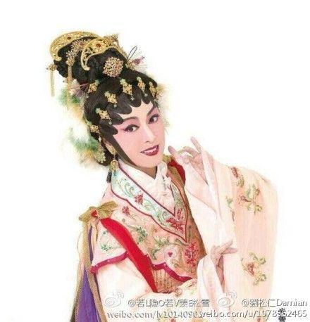 米雪首演粤剧刘松仁祝贺