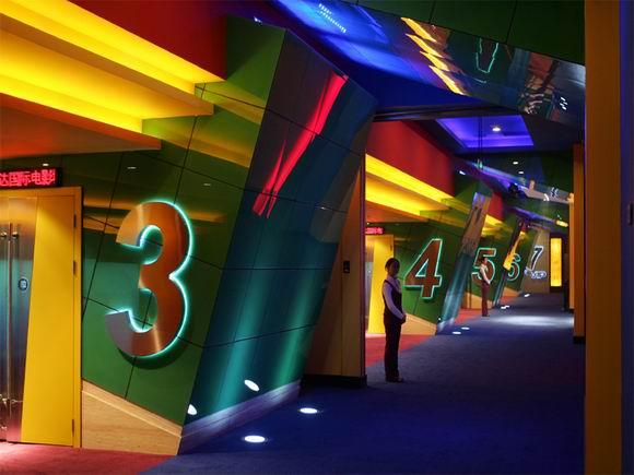 资料:北京万达影城建国路店装璜影城走廊