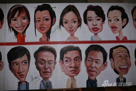 图文:华表奖明星漫画-下面是成龙陈道明等