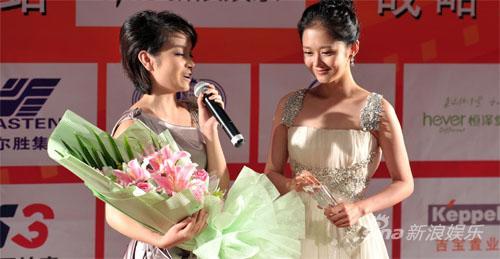 张娜拉获得金鸡电影节观众最喜爱外国女演员奖