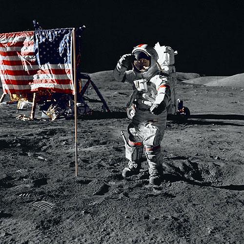 尔-阿姆斯特朗登上月球的照片-环球将拍 登月第一人 阿姆斯特朗的故