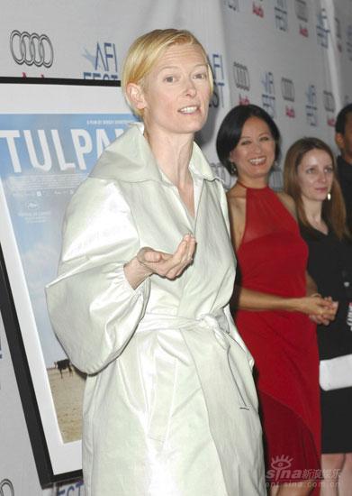 蒂尔达-斯文顿美国电影协会电影节上受表彰(图)