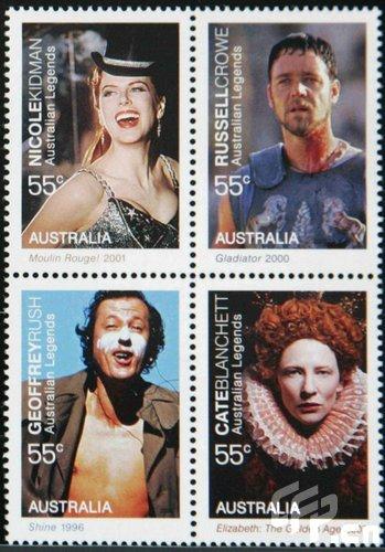 澳大利亚发行限量版新邮票妮可基德曼领衔(图)