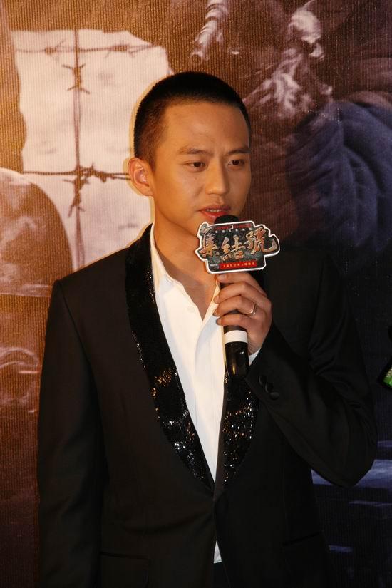 图文:《集结号》主题馆开幕--邓超侃侃而谈