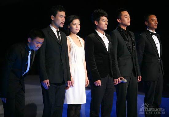 图文:《集结号》首映现场《集结号》全体演员