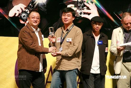 图文:香港国际电影节颁奖礼-王小帅出席颁奖