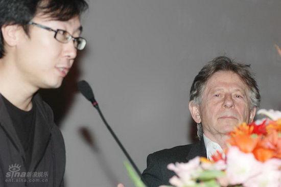 图文:波兰斯基出席波兰影展--陆川与罗曼-波兰斯基