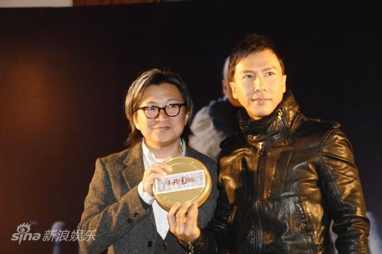 图文:《十月围城》上海宣传-陈可辛与甄子丹