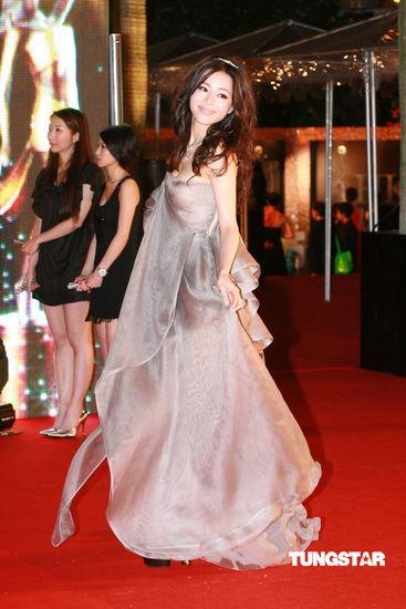 图文:29届香港金像奖红毯-张静初长裙现身