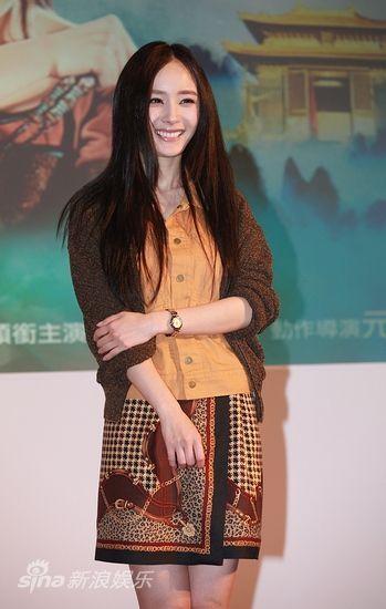 杨幂笑容甜美