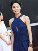 姜宏波深蓝长裙