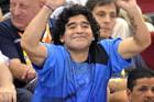 马拉多纳观战阿根廷男篮