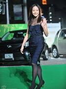 林嘉欣蓝色裙装