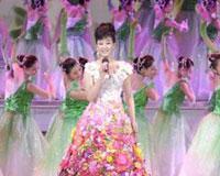 宋祖英高贵花朵裙