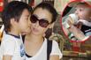 组图:张柏芝三代同堂齐饮茶 小儿子喂奶照曝光