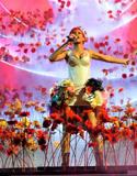 蕾哈娜花丛献唱