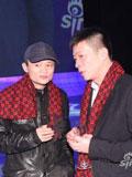 曹国伟(右)与马云