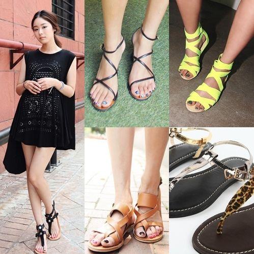 夏季平底凉鞋