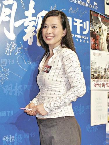 港星陈松伶承认已下嫁张铎男方比其小8岁(图)