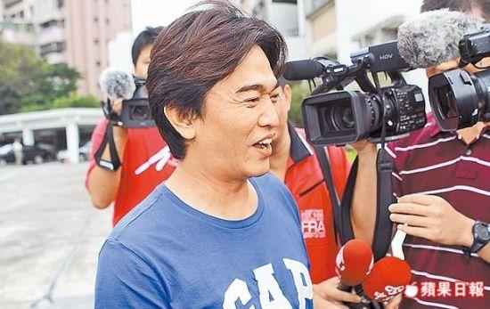 吴宗宪昨日在新竹配合检调约谈,神情轻松。林师民摄