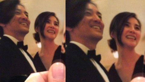 郑伊健与蒙嘉慧在婚礼上