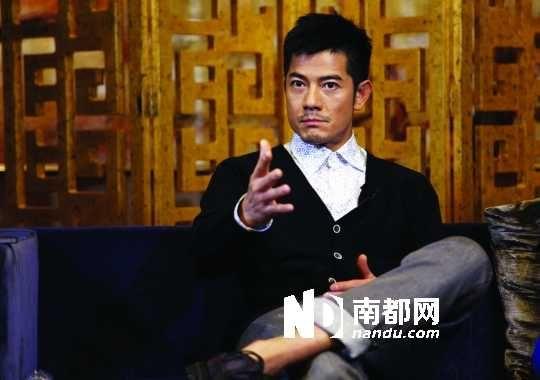 昨天到广州为电影宣传的郭富城,虽然精神状态不错,但难掩疲态。