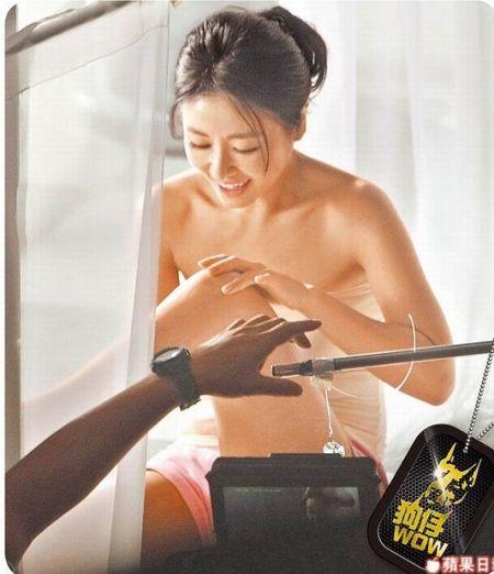 林心如拍沐浴乳广告