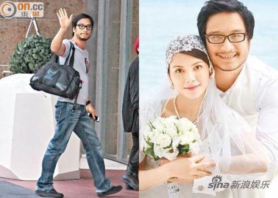彭顺与李心洁结婚照