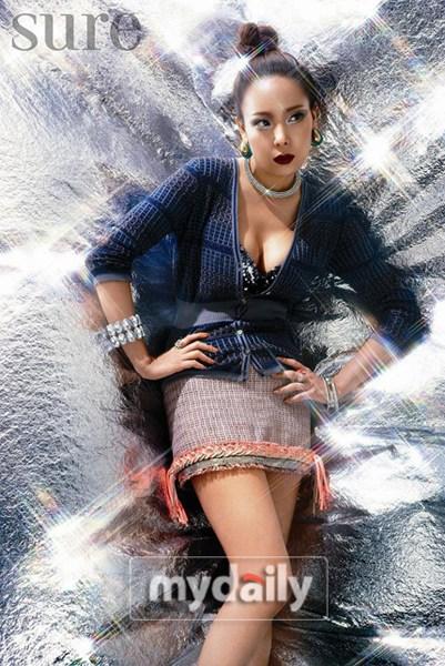 组图:苏有珍最新时尚写真展现性感魅力