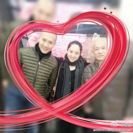 董璇与爸爸和老公高云翔