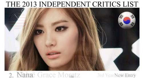 韩国女星Nana荣登亚洲女星最美