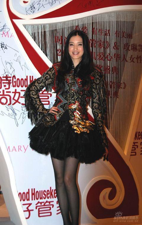 组图:龚蓓�时尚夜酷装登场独特扮靓秀美腿
