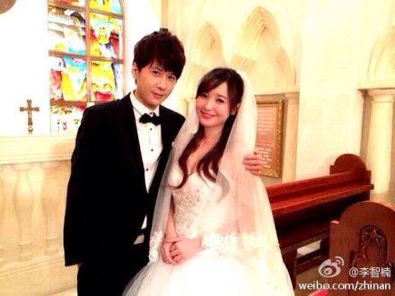 """李智楠微博上晒出与金莎的""""结婚照"""""""