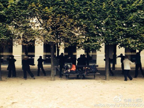 巴黎公园练八卦掌的老人们