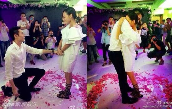 今年6月张嘉倪在生日当天被求婚