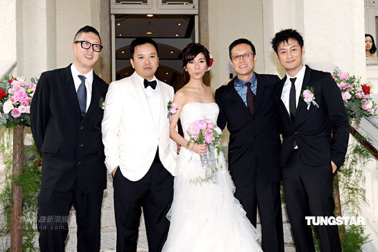 Felix Chong, Andrew Lau, Shawn Yu join new bride and groom