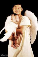 郭晓冬首拍明星家庭照大胖儿子可爱似天使(图)