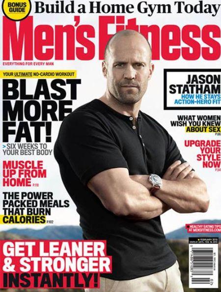 杰森-斯坦森登杂志封面 展示猛男健康一面