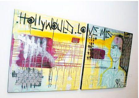 弗兰科创作油画《好莱坞爱我》