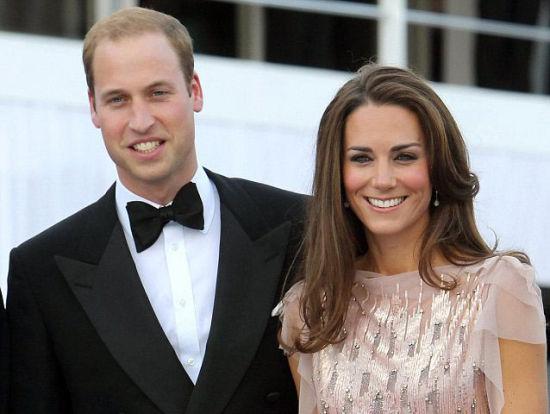 威廉王子与凯特王妃(资料图)