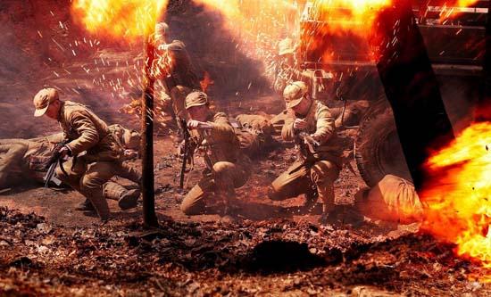 战火纷飞英勇保卫文工团女战士