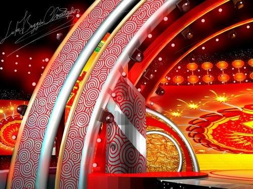 图文:2008湖南卫视春晚舞美设计图(10)