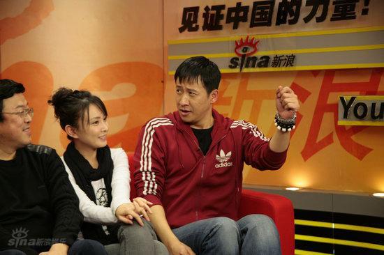 图文:《团长》主创做客--张国强手舞足蹈