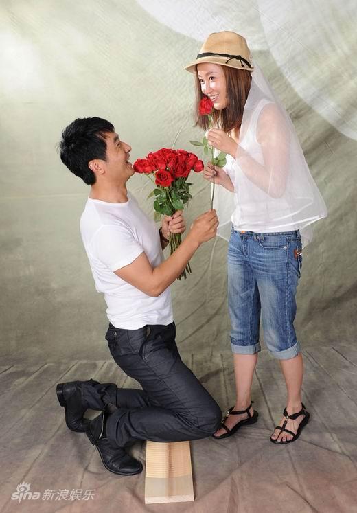 图文:《一日夫妻》婚纱照--玫瑰代表我爱你